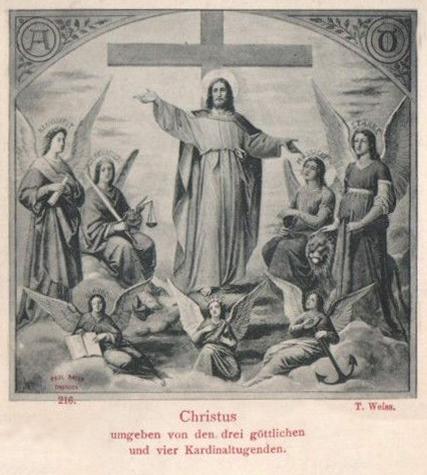 Christus und die Haupttugenden